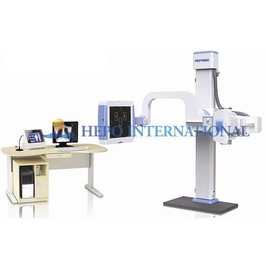 55KW or 65KW Medical High Frequency Digital Radiography System With Flat Panel
