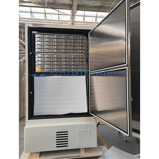 Lab Biological Sample Storage Ultra low Temperature Freezer with frozen racks