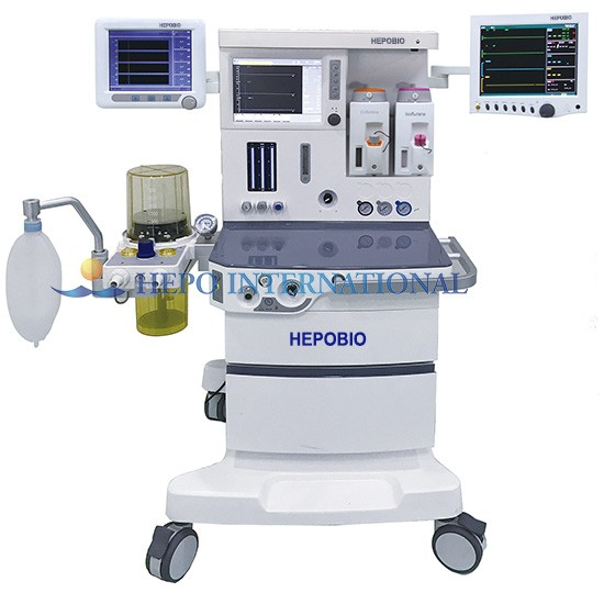 Advanced Hospital Anesthesia Apparatus Machine With Gas Scavenging Unit
